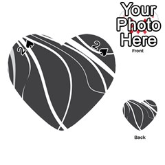 Black and white elegant design Playing Cards 54 (Heart)