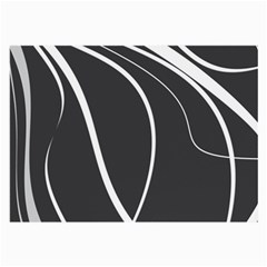 Black and white elegant design Large Glasses Cloth (2-Side)