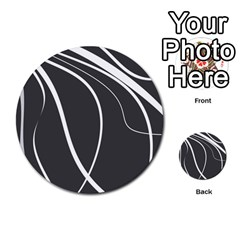 Black and white elegant design Multi-purpose Cards (Round)