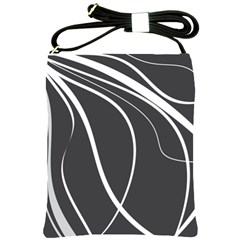 Black and white elegant design Shoulder Sling Bags