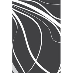 Black and white elegant design 5.5  x 8.5  Notebooks