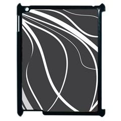 Black and white elegant design Apple iPad 2 Case (Black)