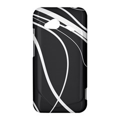 Black and white elegant design HTC Droid Incredible 4G LTE Hardshell Case