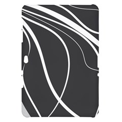 Black and white elegant design Samsung Galaxy Tab 10.1  P7500 Hardshell Case