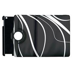 Black and white elegant design Apple iPad 3/4 Flip 360 Case