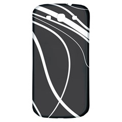 Black and white elegant design Samsung Galaxy S3 S III Classic Hardshell Back Case