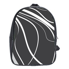 Black and white elegant design School Bags (XL)