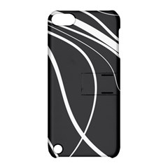 Black and white elegant design Apple iPod Touch 5 Hardshell Case with Stand