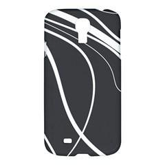 Black and white elegant design Samsung Galaxy S4 I9500/I9505 Hardshell Case