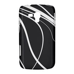 Black and white elegant design Samsung Galaxy Duos I8262 Hardshell Case