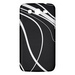 Black and white elegant design Samsung Galaxy Mega 5.8 I9152 Hardshell Case