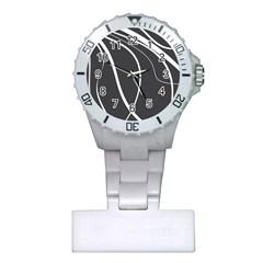 Black and white elegant design Plastic Nurses Watch