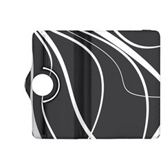 Black and white elegant design Kindle Fire HDX 8.9  Flip 360 Case