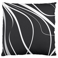 Black and white elegant design Standard Flano Cushion Case (Two Sides)