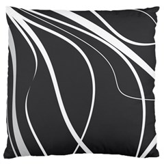 Black and white elegant design Large Flano Cushion Case (Two Sides)