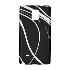 Black and white elegant design Samsung Galaxy Note 4 Hardshell Case
