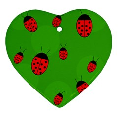 Ladybugs Ornament (Heart)