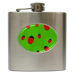 Ladybugs Hip Flask (6 oz)