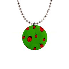 Ladybugs Button Necklaces