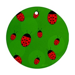 Ladybugs Round Ornament (Two Sides)