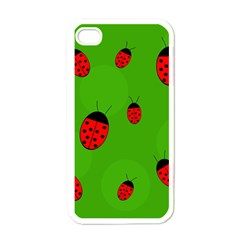 Ladybugs Apple iPhone 4 Case (White)