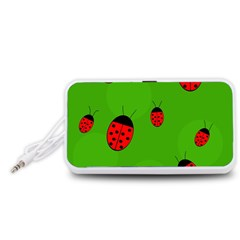 Ladybugs Portable Speaker (White)