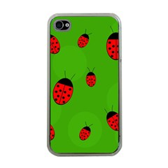 Ladybugs Apple iPhone 4 Case (Clear)
