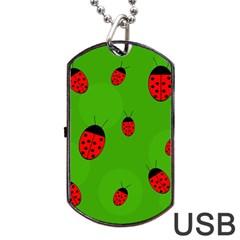 Ladybugs Dog Tag USB Flash (One Side)