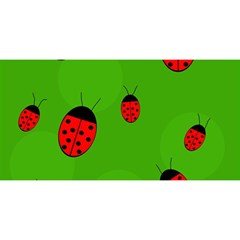 Ladybugs YOU ARE INVITED 3D Greeting Card (8x4)