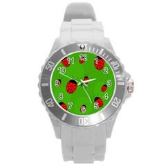Ladybugs Round Plastic Sport Watch (L)