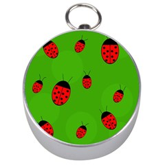 Ladybugs Silver Compasses