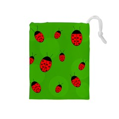 Ladybugs Drawstring Pouches (Medium)
