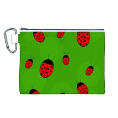 Ladybugs Canvas Cosmetic Bag (L)