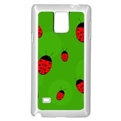Ladybugs Samsung Galaxy Note 4 Case (White)