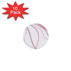 Pink elegant lines 1  Mini Buttons (10 pack)