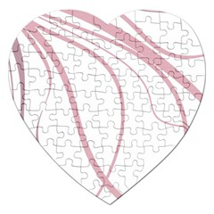 Pink elegant lines Jigsaw Puzzle (Heart)