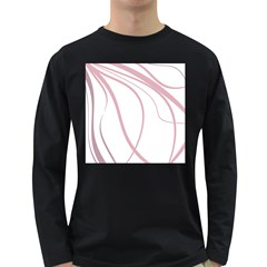 Pink elegant lines Long Sleeve Dark T-Shirts