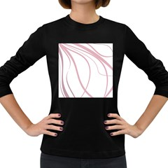Pink elegant lines Women s Long Sleeve Dark T-Shirts