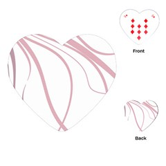 Pink elegant lines Playing Cards (Heart)
