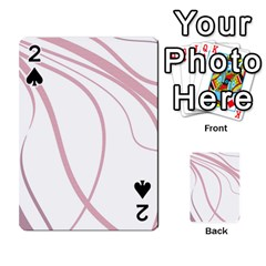 Pink elegant lines Playing Cards 54 Designs