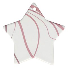 Pink elegant lines Star Ornament (Two Sides)