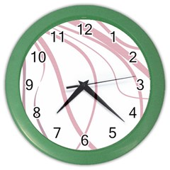 Pink elegant lines Color Wall Clocks
