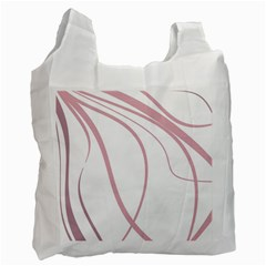 Pink elegant lines Recycle Bag (One Side)