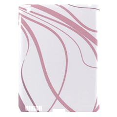 Pink elegant lines Apple iPad 3/4 Hardshell Case (Compatible with Smart Cover)