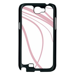 Pink elegant lines Samsung Galaxy Note 2 Case (Black)