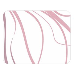 Pink elegant lines Double Sided Flano Blanket (Large)