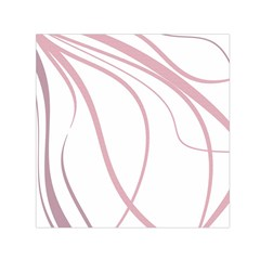 Pink elegant lines Small Satin Scarf (Square)