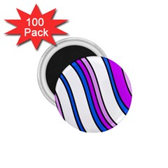 Purple Lines 1.75  Magnets (100 pack)