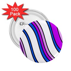 Purple Lines 2.25  Buttons (100 pack)