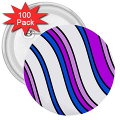 Purple Lines 3  Buttons (100 pack)
